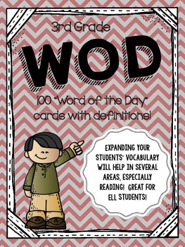 Word of the Day - 3rd Grade Vocabulary