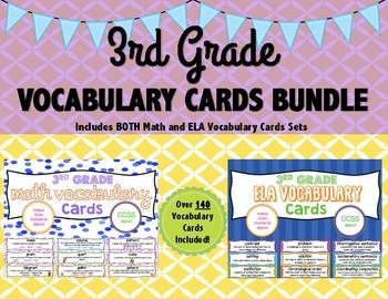 3rd Grade Vocabulary Cards Bundle