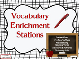 3rd Grade Vocabulary Enrichment Stations - Context Clues & more!