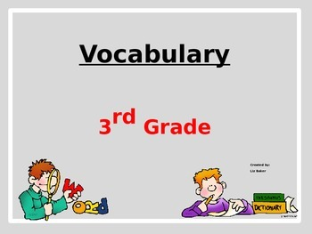 3rd Grade Vocabulary Powerpoint
