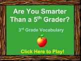 3rd Grade Vocabulary Review - Are You Smarter Than a 5th Grader PowerPoint Game
