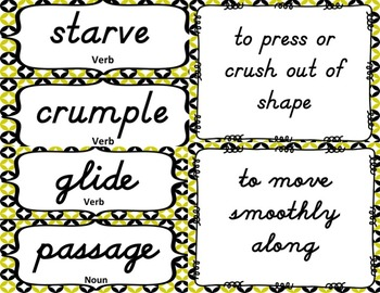 3rd Grade Vocabulary Set (Busy Bee paper)