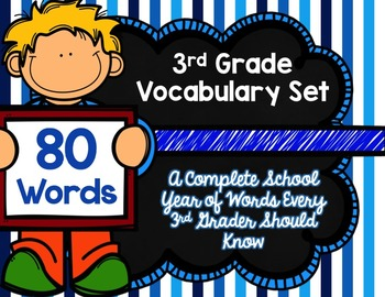 3rd Grade Vocabulary Set (Don't Be So Blue paper)