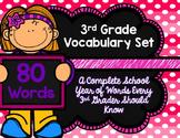 3rd Grade Vocabulary Set (Flamingo Party paper)