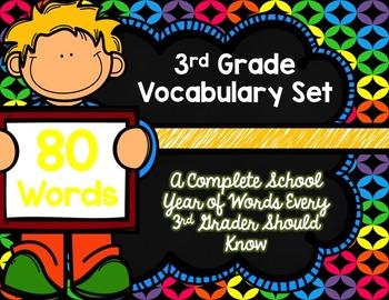 3rd Grade Vocabulary Set (Grab Your Glow Sticks paper)