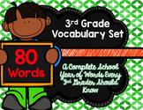 3rd Grade Vocabulary Set (Keep off the Grass paper)