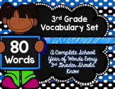 3rd Grade Vocabulary Set (Love the Cats paper)
