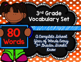 3rd Grade Vocabulary Set (Orange Soda paper)