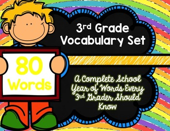 3rd Grade Vocabulary Set (Over the Rainbow-GMG paper)