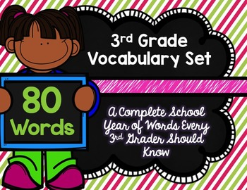 3rd Grade Vocabulary Set (Pink and Green paper)