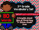 3rd Grade Vocabulary Set (Red and Black paper)