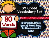 3rd Grade Vocabulary Set (Super Hero paper)