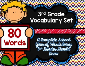 3rd Grade Vocabulary Set (Super Hero paper)