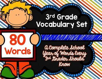 3rd Grade Vocabulary Set (Susy paper)