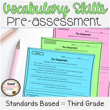 3rd Grade Vocabulary Skills Pre-Assessments