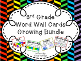 3rd Grade Vocabulary Word Wall Cards Sets 1-8 Bundle-Based on the TEKS and STAAR