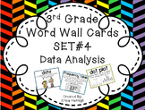 3rd Grade Vocabulary Word Wall Cards Set 4:  Data Analysis and Graphs TEKS