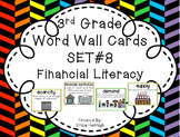 3rd Grade Vocabulary Word Wall Cards Set 8:  Financial Literacy TEKS