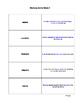 3rd Grade Vocabulary for Success: Memory Game