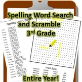3rd Grade WONDERS Spelling Word Search and Scramble -- Ent