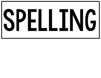 3rd Grade WONDERS Spelling Words