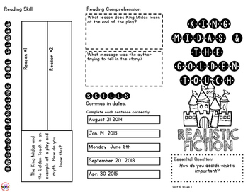 3rd Grade WONDERS Unit 6 Trifold