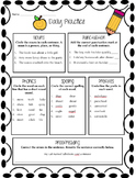 3rd Grade Warm Ups- Common Core Language Arts