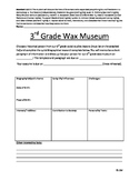 3rd Grade Wax Museum Project Template