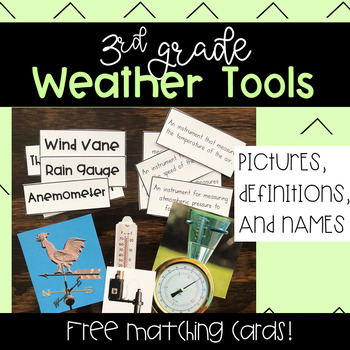3rd Grade Weather Tools Matching Cards