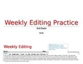 3rd Grade Weekly Editing Practice