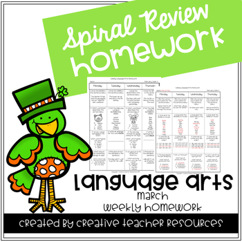 3rd Grade Weekly Language Arts Spiral Review: March