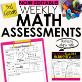 3rd Grade Math Weekly Assessments Math Quizzes