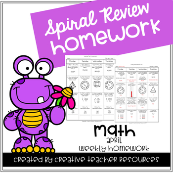 3rd Grade Weekly Math Spiral Review: April