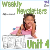 3rd Grade Weekly Newsletter, Aligned to Wonders™ 2017 Unit 4