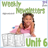 3rd Grade Weekly Newsletter, Aligned to Wonders™ 2017 Unit 6