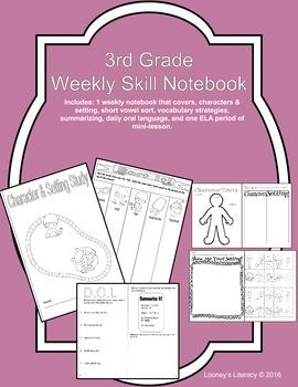 3rd Grade Weekly Notebook