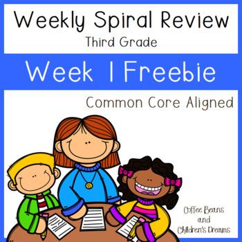 3rd Grade Weekly Spiral Reviews Week 1