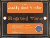 3rd Grade Weekly Word Problem Set on Elapsed Time