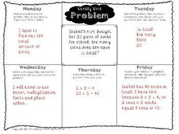 3rd Grade Weekly Word Problem Set on One-Digit by Multiple of 10 Multiplication