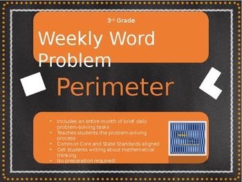 3rd Grade Weekly Word Problem Set on Perimeter