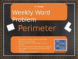 3rd Grade Weekly Word Problem Set on Perimeter