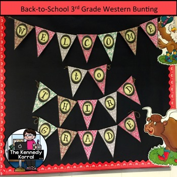 3rd Grade Welcome Bunting {Western Welcome Banner}
