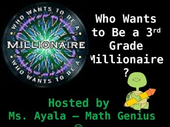 3rd Grade Who Wants to Be A Millionaire STAAR Review Quiz Game Show