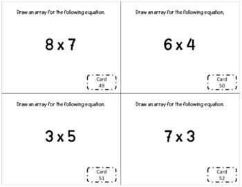 3rd Grade Whole Numbers Task Cards