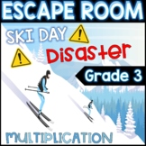 3rd Grade Winter Digital Escape Room Multiplication Review