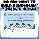 3rd Grade Winter Digital Math Game Multi-Step Word Problems   Distance Learning