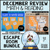 3rd Grade Winter Escape Room | Reading and Math Review Game