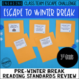 3rd Grade Winter Escape Room | Winter Break Reading Review