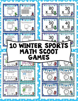 3rd Grade Winter Games: 3rd Grade Math Scoot