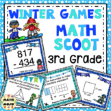 3rd Grade Winter Games: 3rd Grade Winter Math Scoot